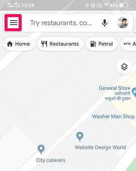 Select Google Maps on your target's phone